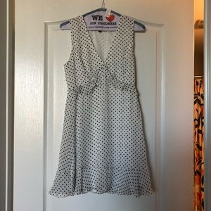White polka dot dress,  new with tags